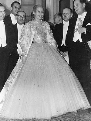 eva peron's iconic dior ball gown