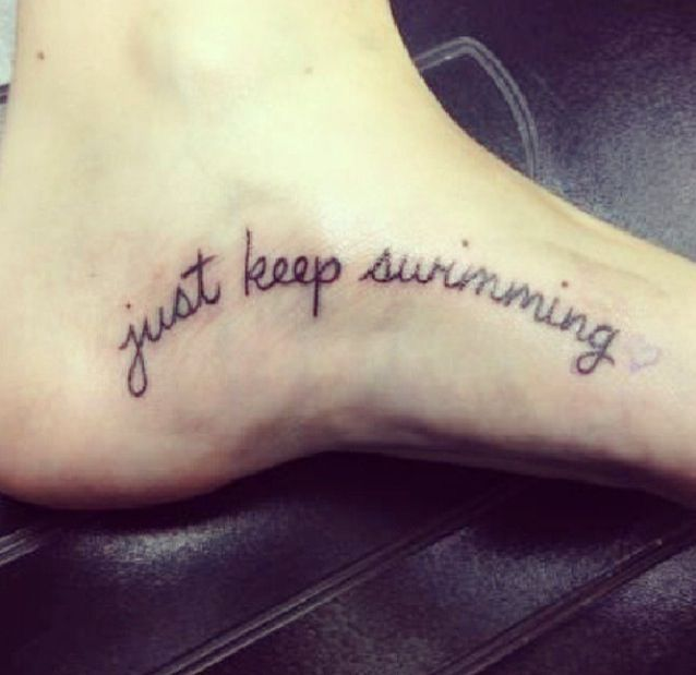 Just keep swimming tattoo gallery for How to protect a new tattoo when swimming