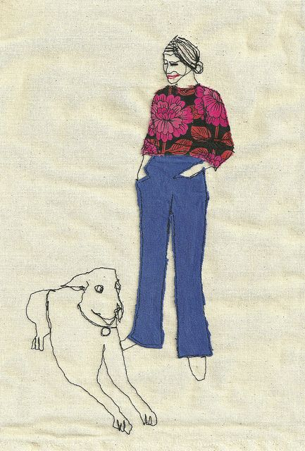 Lady Blue Jeans by Sarah Walton. (I love the draping of the clothes.)