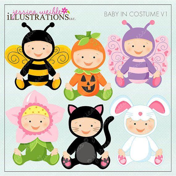 Bebé en traje V1 lindo Gráfico Digital para el por JWIllustrations