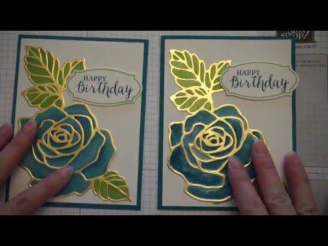 Stampin Up Rose Wonder Birthday Card - YouTube