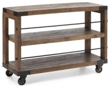 Fort Mason Shelf Distressed Natural industrial-cabinet-and-drawer-organizers