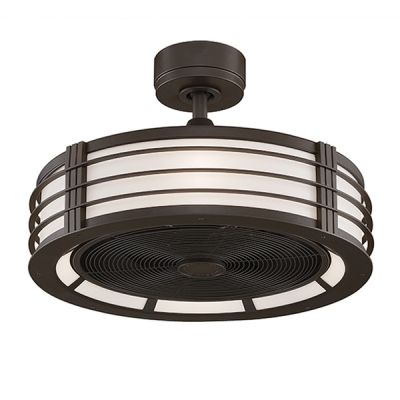 Bantry Drum Ceiling Fan Semi Flush Small