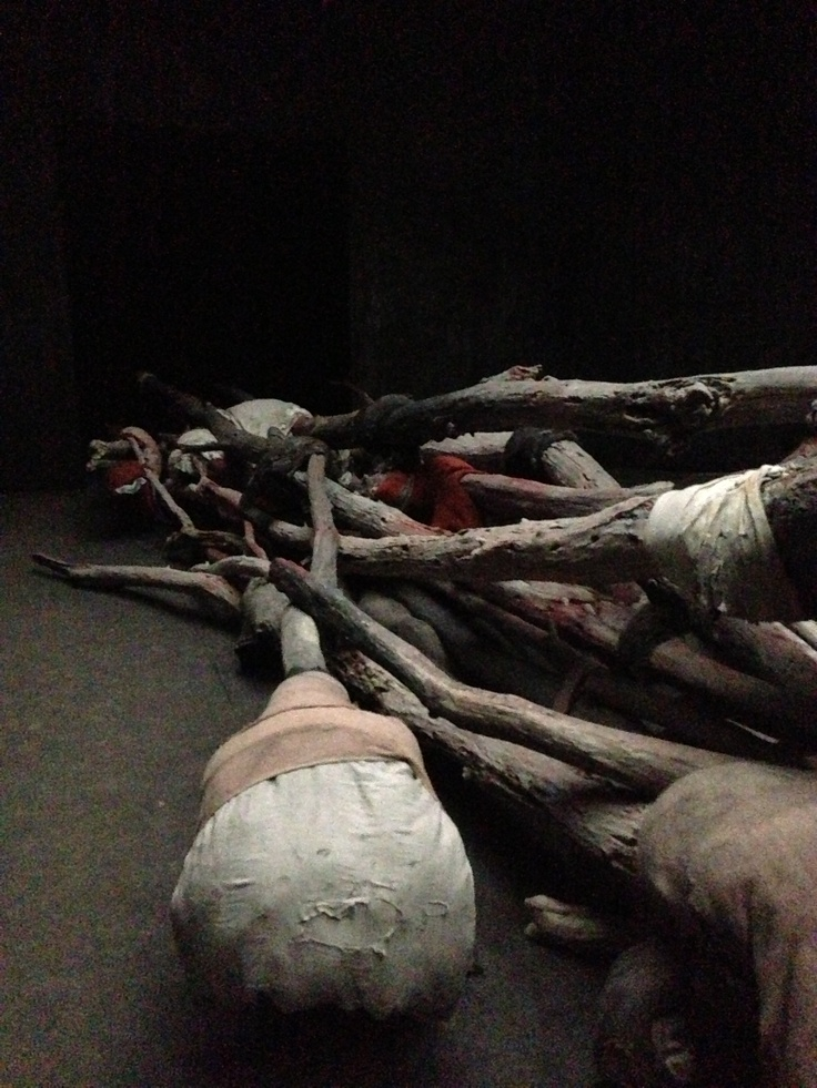 """""""Berlinda de Breuyckere's work at the pavilion of Belgium at the 55th Venice Biennale 2013. Remarkable and poetic, the piece was made entirely of wax, bandages, and paint. The artist succeeded in creating a meditative space, where viewers felt they were in the presence of a wounded animal."""" -Avni Doshi"""