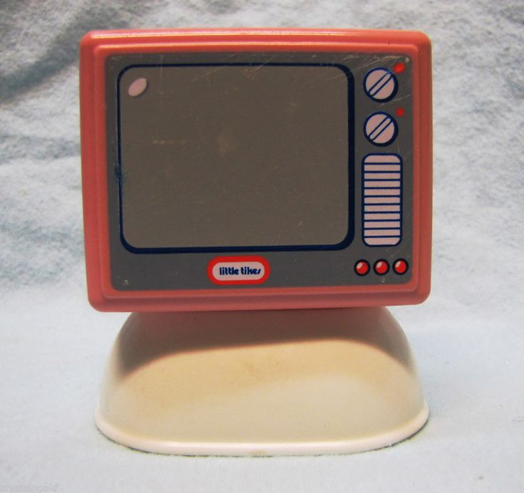 Vintage 1990s LITTLE TIKES DOLLHOUSE Pink TV Television for Living Room RARE! 3+ #LittleTykes