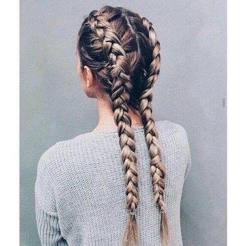 Braids to try: dutch pigtail braids Source || Pinterest #hair #braids #BeautyCircle #Kardashians