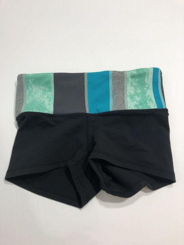 Lululemon Boogie Shorts Size 2 Blue Black  | eBay