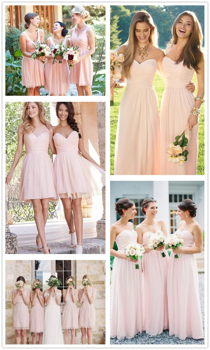 6 Sweet & Simple Blush Bridesmaids Dresses for 2016 Summer
