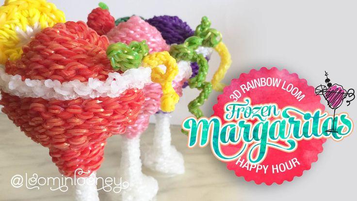 Frozen Loom Margaritas: 3D Rainbow Loom Cocktail Series