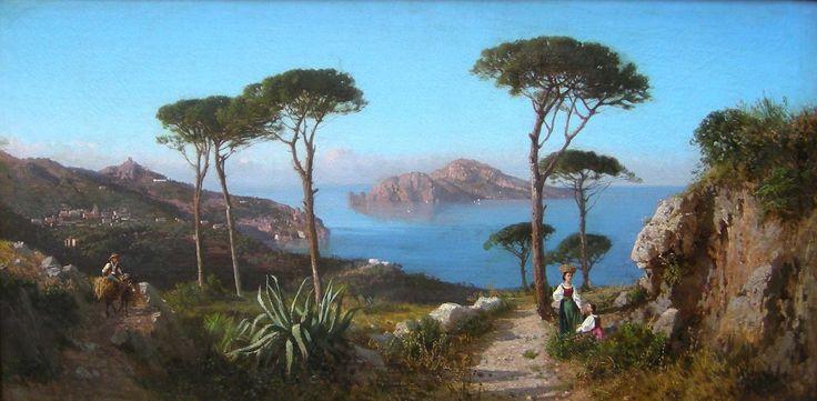 ALESSANDRO LA VOLPE Veduta di Capri da Punta Campanella