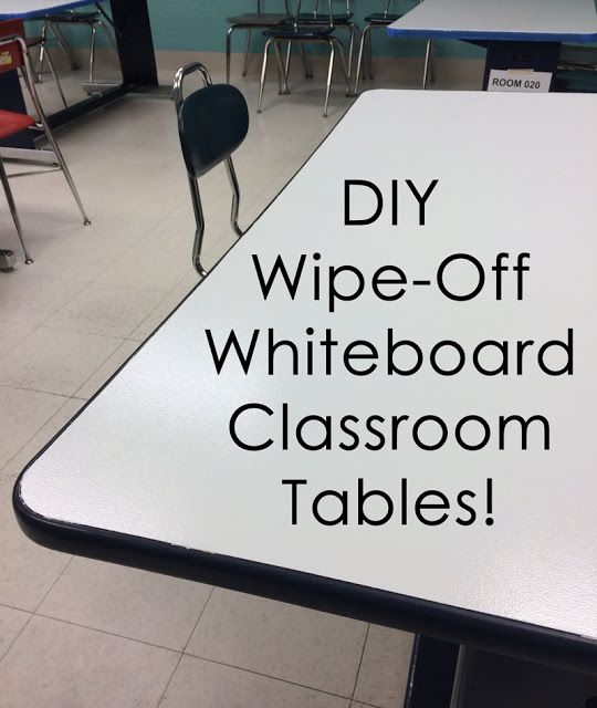 "Wipe-off/Dry erase Whiteboard paint on your classroom tables is a great way to ""hack"" your classroom space!   http://lebantech.blogspot.com/2016/08/hack-your-classroom-space-diy.html"