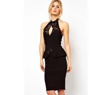 Stijlvol jurkje met kanten halslijn, nu voor maar € 9,95