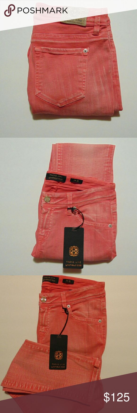 Raffaello Rossi Sinty Slim Leg Jeans Raffaello Rossi is Europe's leading designer in jeans and trousers. The Sinty style is one of Raffaello Rossi's most popular denim styles. This item is new with tags. European Size 36. Raffaello Rossi Jeans Skinny