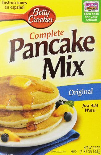 We love this for pancakes when we are camping.  Only needs water. Betty Crocker Complete Original Pancake Mix, 37-Ounce (Pack of 5)