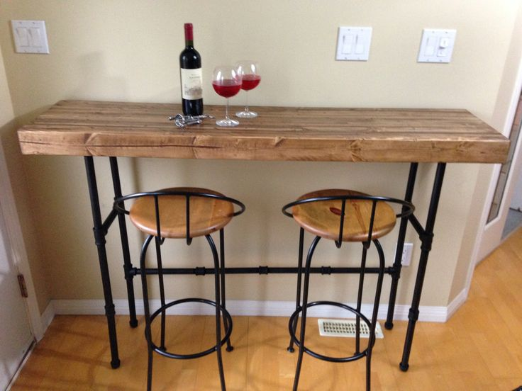 Beetle-kill spruce kitchen bar or stand-up desk. I recessed the back - Best 25+ Small Kitchen Bar Ideas On Pinterest Small Kitchen