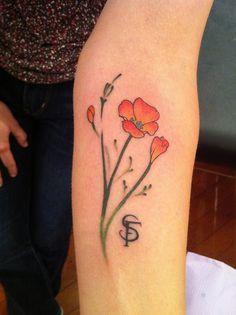 california+poppy+tattoo   Golden Poppy Tattoo Http ...