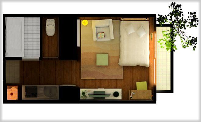 ワンルームマンション studio layout