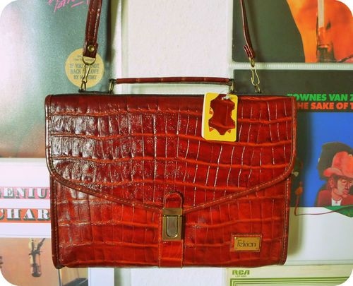 VINTAGE Feliciani Tasche Leder Bag Boho Messenger Cognac Kroko Kurier Crossover | eBay