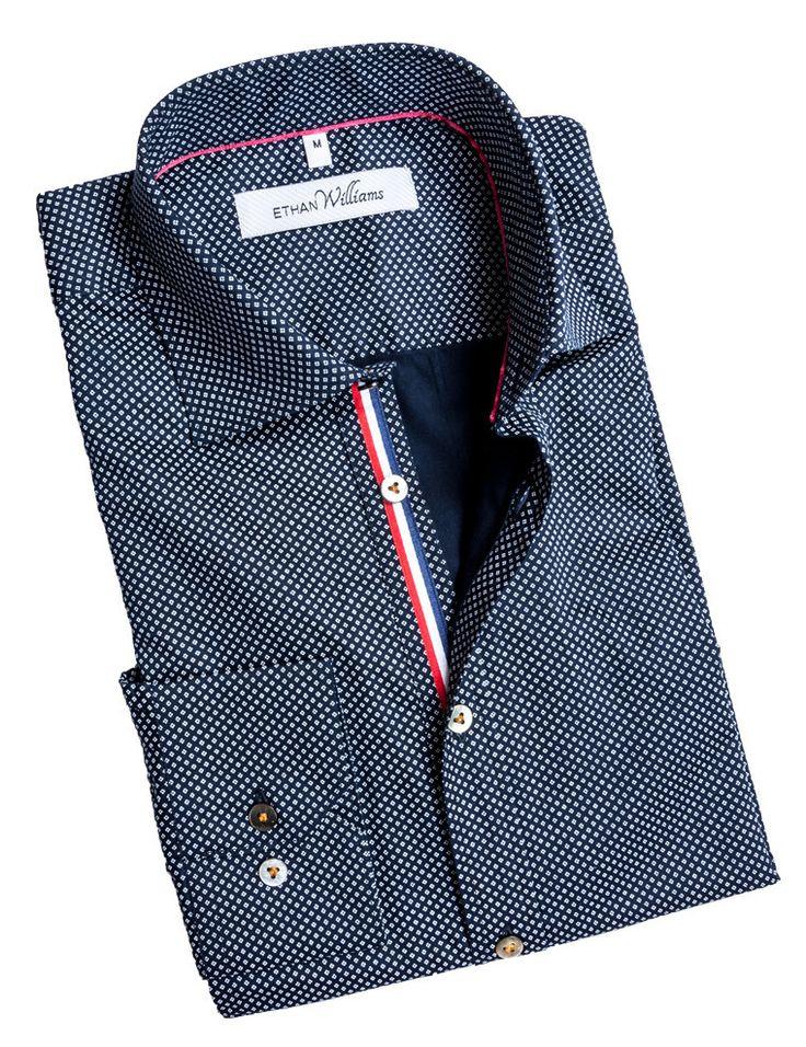 Dress shirt with Navy Geometric Print - Francine
