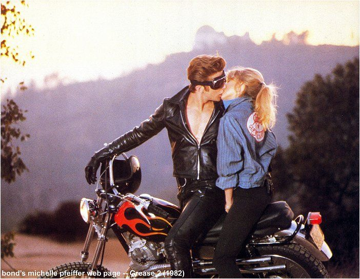 grease 2~ Gotta Love A Man That Only Wears A Leather Jacket On A Motorcycle