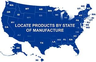 Interactive website featuring items made in America.