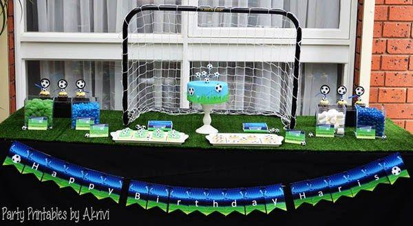 Soccer Party dessert table
