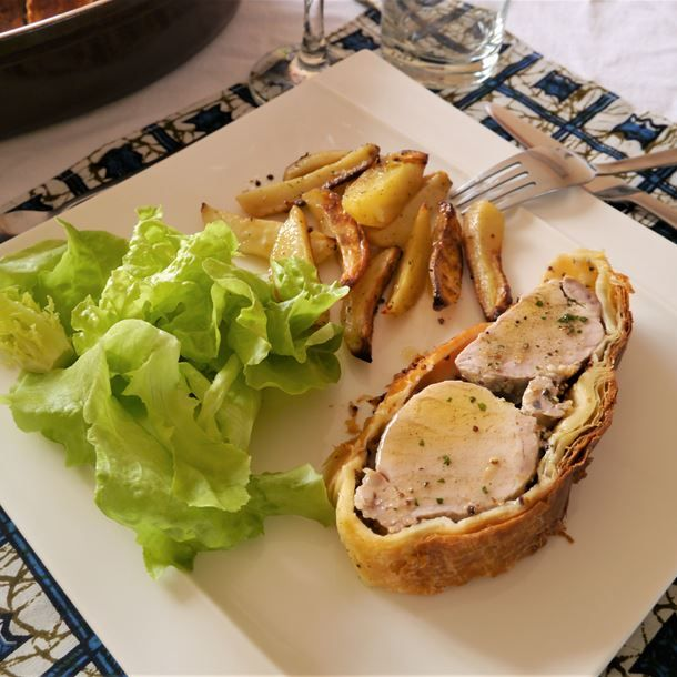 Filet mignon de porc à la moutarde cuit au four en croûte