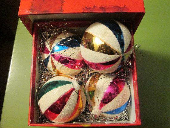 Vintage ornaments made in Poland; @Julie Jarosz  just like mom and dad's.