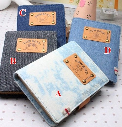 1pc Cowboy Denim Style  Notebook  Diary Book Drawing