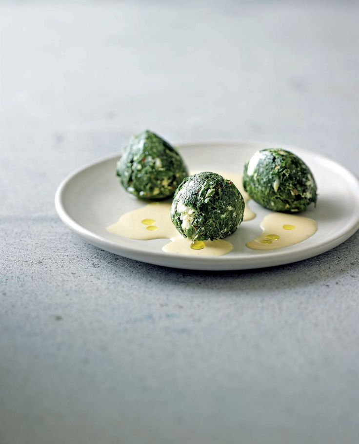 Feta-creamed spinach recipe from New Middle Eastern Food by Greg Malouf | Cooked