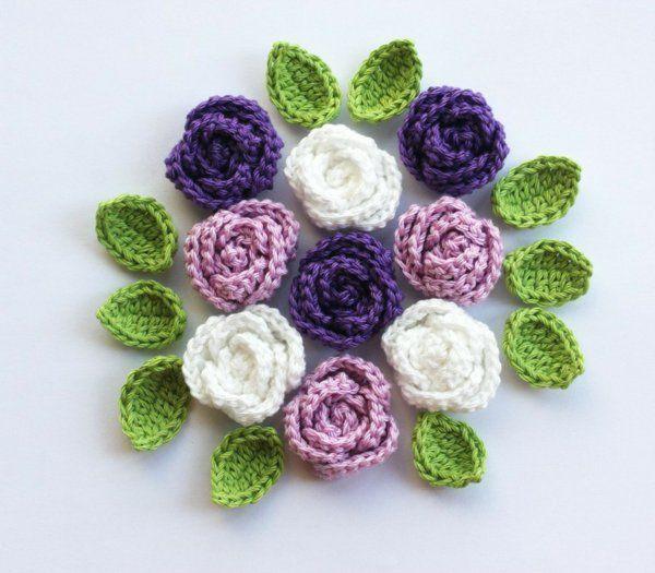 67 best Blumen häkeln images on Pinterest   Häkelideen, Diy häkeln ...