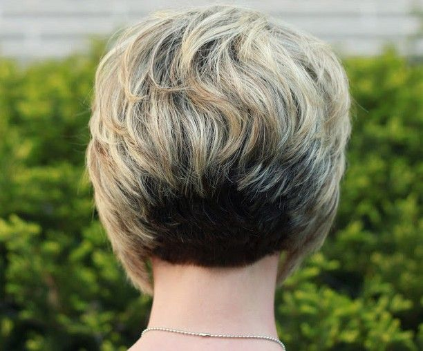 Back View of Stacked Bob Hairstyle - Layered Short Hairstyle for 2014