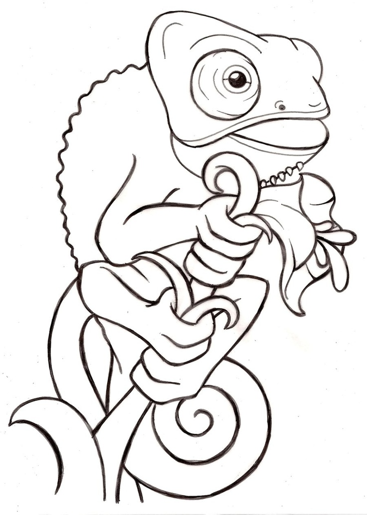 printable coloring page see more cartoon baby veiled chameleon tattoo by metacharis on deviantart - Megamind Coloring Pages Printable