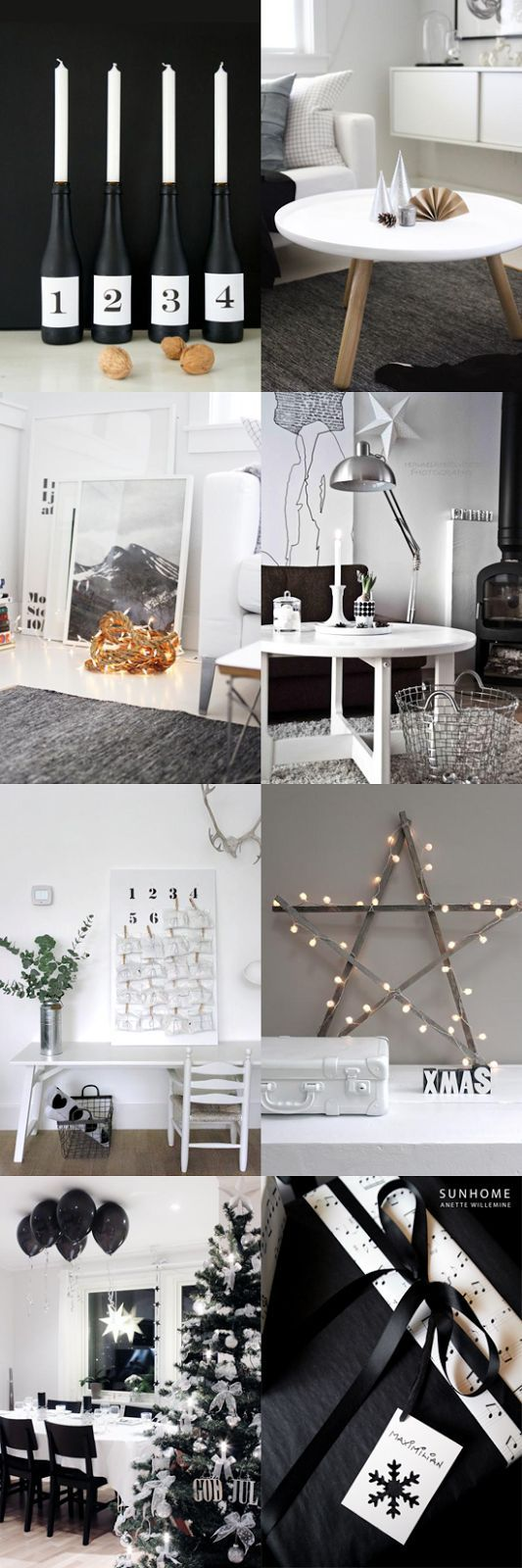 ... Christmas, Black White, Nordic Christmas, Christmas Chic, Christmas Minimalist Christmas decor ideas - visit diychristmasdecorations.net for more minimalist christmas decor ideas.
