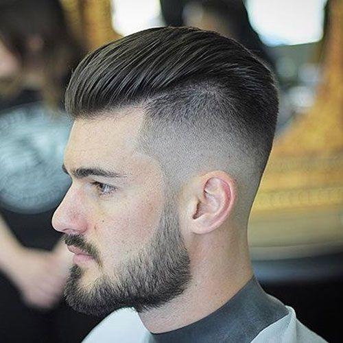 Slicked Back Undercut + Beard