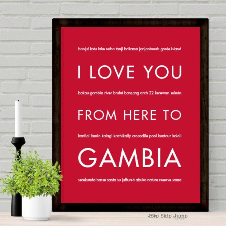 GAMBIA Travel Art Gift Idea 8