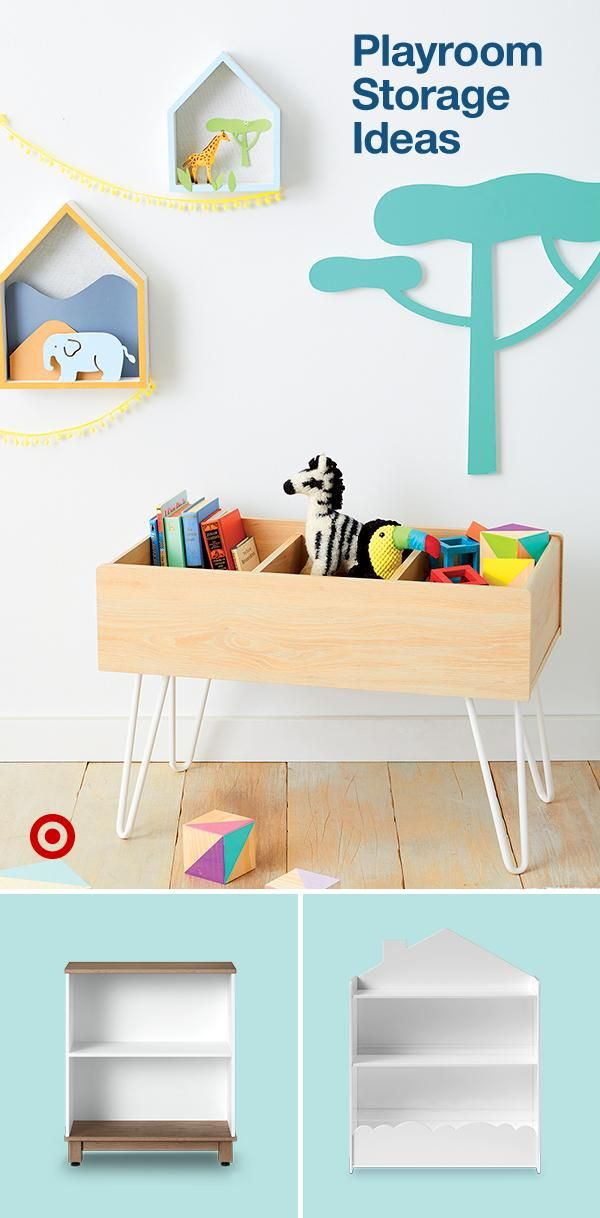Create An Organized Playroom With Tidy Storage Ideas Like Shelves Bins For Toys Art Supplies Kids Room Organization Toy Rooms Toddler Rooms