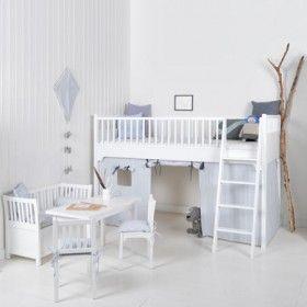 White Scandi styled Loft Bed by Oliver Furniture - Scandi Childrens chic online at Nubie | Nubie - Modern Baby Boutique