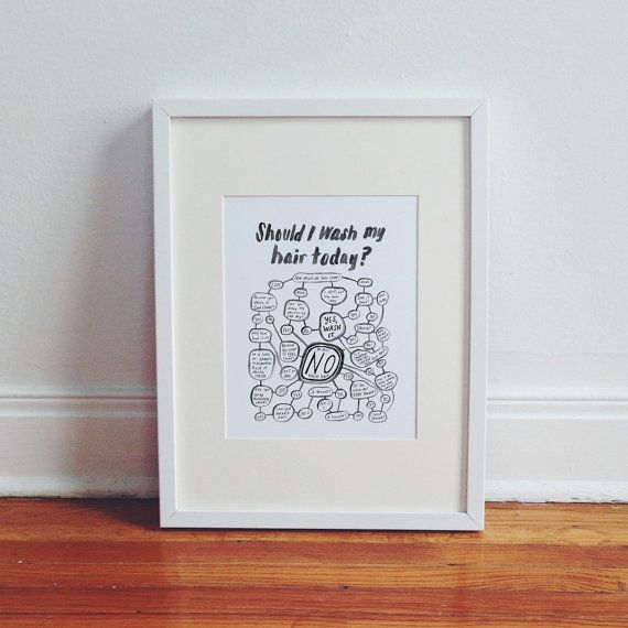 Should I Wash My Hair Today Flowchart by ChipperThings on Etsy