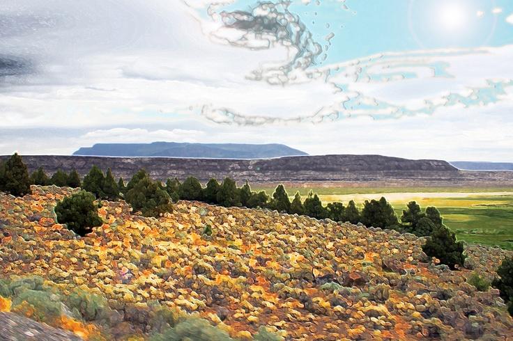 "by Lonnie Hammill          ""Sunstone Landscape"" 2012: Sunston Landscape"