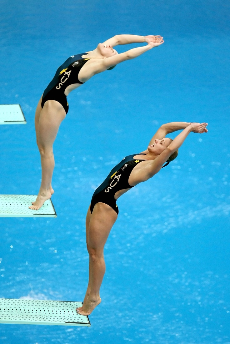 Women's Synchronized Springboard, Beijing 2008 Olympic Games my mom almost made the Olympic team..'we are good swimmers :)