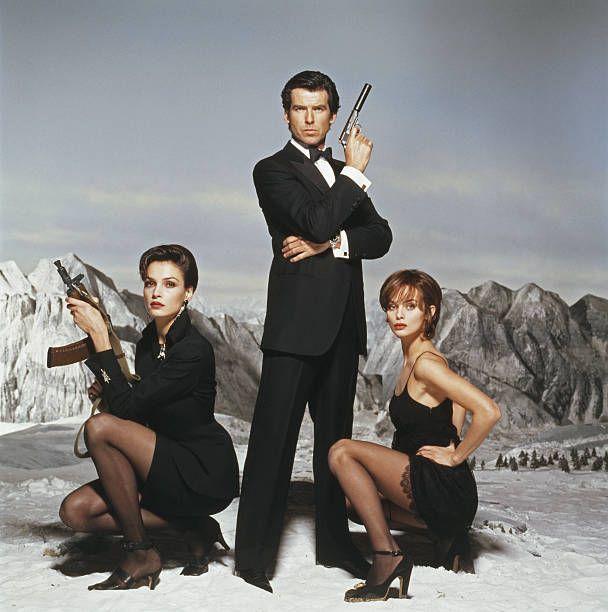 Irish Actor Pierce Brosnan As James Bond With His Goldeneye