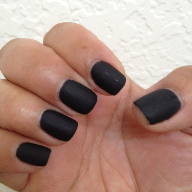 Matte black shellac! By queennaildiva!