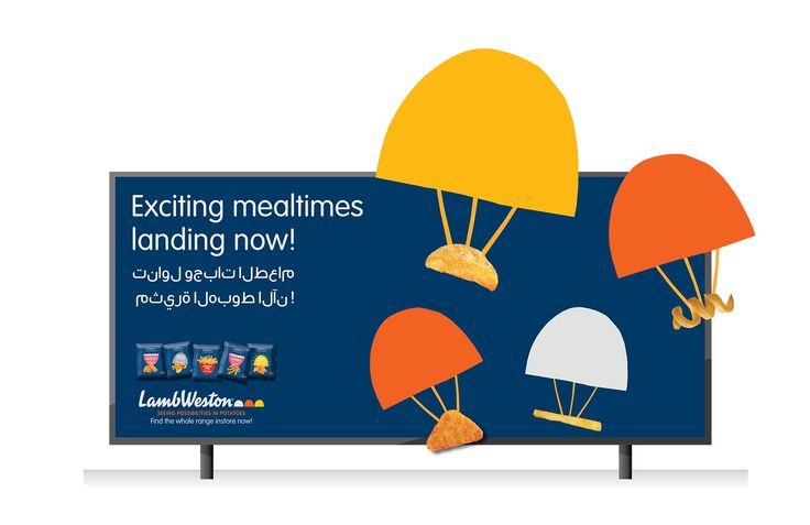 LAMB WESTON marketing comms billboard print design by WMH