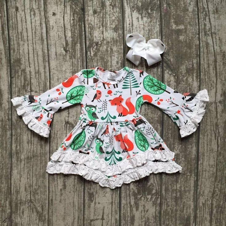 Woodland Ruffle Dress 2PC