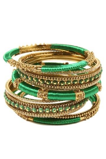 Bracelet set.Bangles Sets, Bracelets Sets, Spring Bangles, Green, Rupal Spring, Jewelry, Amrita Singh, Accessories, Friendship Bracelets