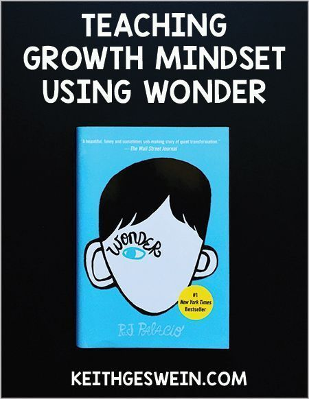 The characters and events in Wonder can teach important principles of growth mindset to your students!