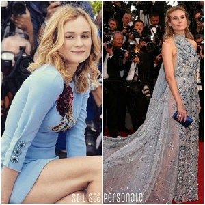 Best dressed Cannes 2015 by Stilista Personale - L'angelo azzurro Diane Kruger in Dolce e Gabbana e Prada a Cannes 2015
