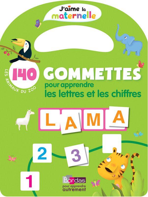 Des cahiers ludiques pour apprendre pendant toutes les années de la maternelle, les chiffres et les lettres grâce à des autocollants.