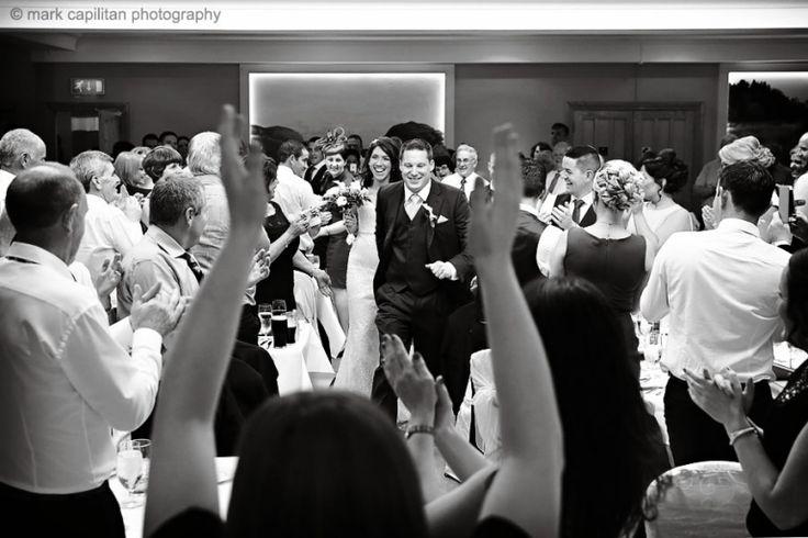 Bride & groom wedding reception entrance wedding photographer sligo